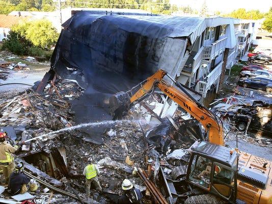 APTOPIX Washington Motel Explosion