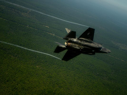 F-35A Lightning II joint strike fighter from the 33rd Fighter Wing at Eglin Air Force Base, Fla.