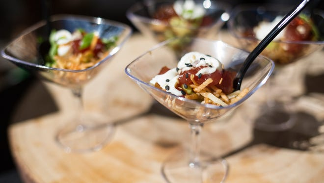 """Talk about deals. Tickets to the Sept. 29 IndyStar Wine & Food Experience in Carmel cost just $50 through July 31, 2018. See """"Chopped"""" judge chef Scott Conant, eat delicious things like the tuna tartare pictured here and sample fine wines. It's an all-you-can-eat (and drink) event."""