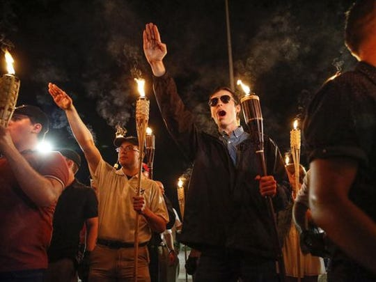 White nationalists at Charlottesville rally