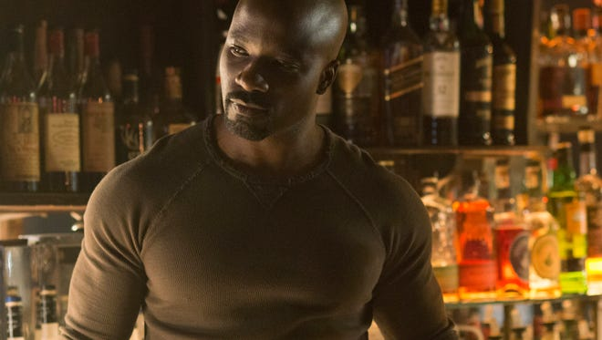 "Mike Colter plays Luke Cage both in ""Marvel's Jessica Jones"" and in his own Netflix series filming now."