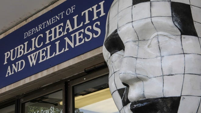 The entrance to the Department of Public Health and Wellness in Louisville. Sept. 8, 2016