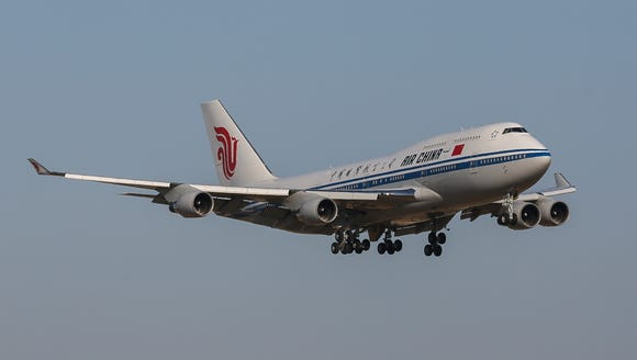 An Air China Boeing 747 is seen in flight on June 6,