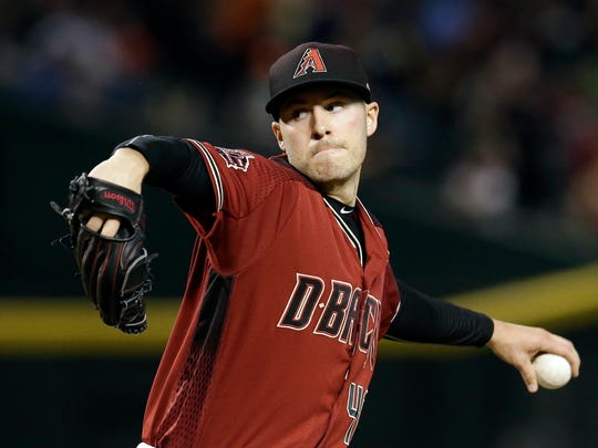 Arizona Diamondbacks starting pitcher Patrick Corbin (46) throws in the first inning against the San Diego Padres at Chase Field.