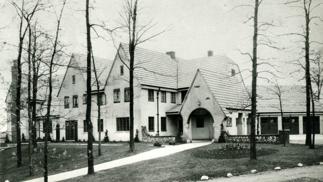 The 'house on the hill' at The Roeper School, where the Roeper family once lived.