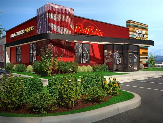 An artist's rendering of the proposed Red Robin restaurant