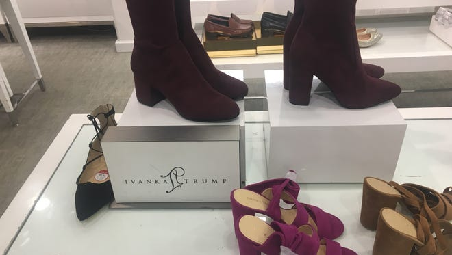 Ivanka Trump footwear on display at the Lord & Taylor store at Westfield Garden State Plaza in Paramus.
