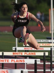 Nyack's Louise Jones on her way to winning the 400