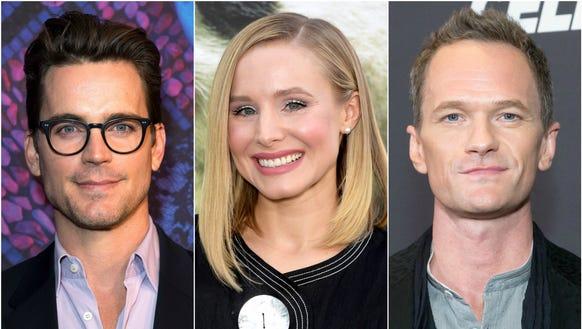Matt Bomer, Kristen Bell and Neil Patrick Harris.