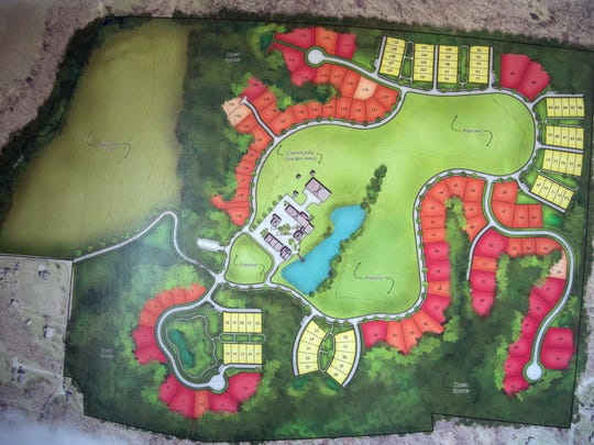 The plans for Aberlin Springs where Leslie Ratliff will use the housing built by her own family to develop a new agricommunity in South Lebanon. The community will be built around an organic farm to engage and teach its residents about farming.