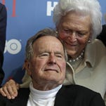 President George H.W. Bush and his wife Barbaraat the June 12, 2012, premiere of HBO's documentary about his life in Kennebunkport, Maine.