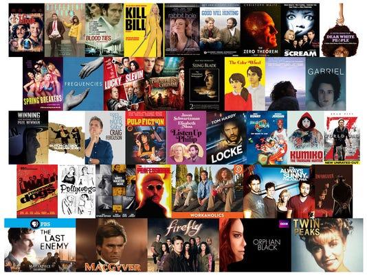 film and TV show cover art for entertech column