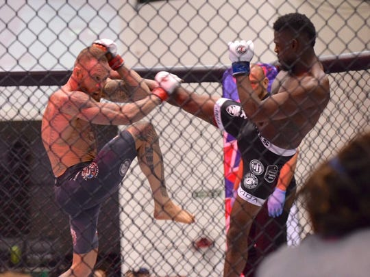 USA's Dylan Fussell defeated Guam's Tyrone Jones by unanimous decision during their lightweight fight at PXC54, July 8.