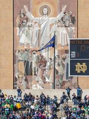 Touchdown Jesus at Notre Dame is one of the enduring symbols of college football.