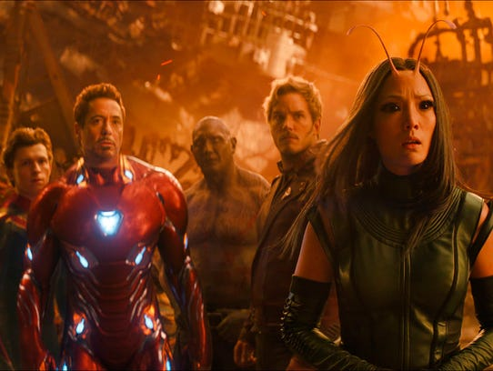 This image released by Marvel Studios shows, from left,