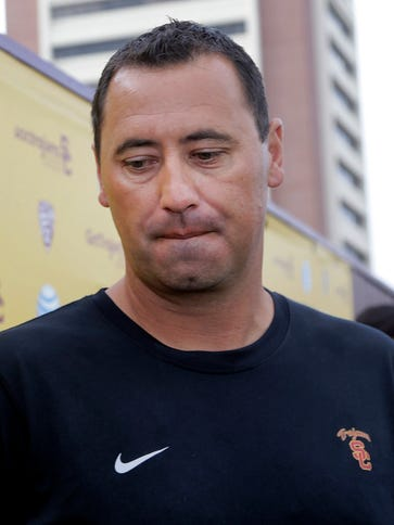 USC coach Steve Sarkisian says his focus on the Trojans