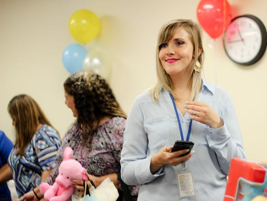 Tabitha Beard looks on during Adoption Day on Nov.