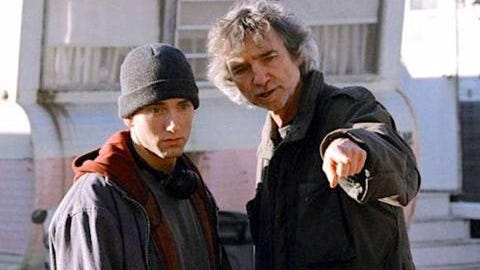 Eminem on the scene of '8 Mile.'