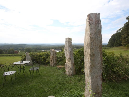 The view from outside Wing's Castle in Millbrook Sept.