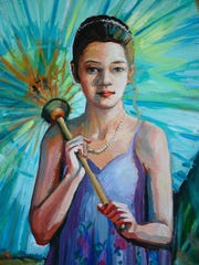 Girl with Parasol by Nancy Wiley.