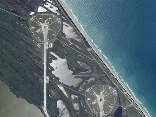 Storms have eaten away at the beach between NASA's two main launch pads and a railway at Kennedy Space Center. NASA recently released an environmental assessment of sand replacement options to widen the shoreline to protect the launch pads. The rail is now non-usable.