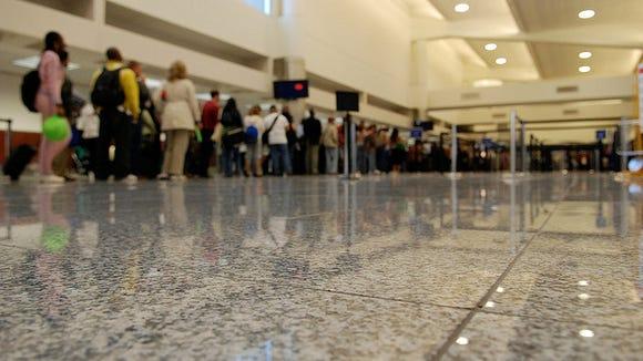 Atlanta airport security line