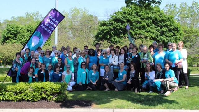 Some 60 survivors of ovarian cancer shared stories in a meet-and-greet Sunday at George's Senate Coney Island in Northville.
