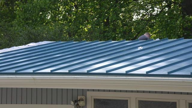 Metal roofs, available as standing seam or made from metal tiles, can last from 40 to 70 years.