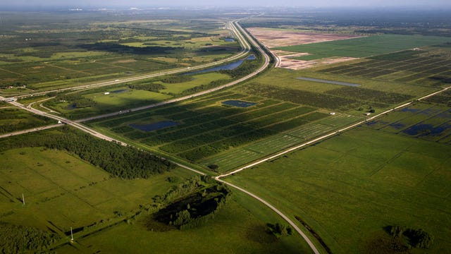 This was the proposed site of the Hobe Grove and Harmony Ranch developments at the intersection of I-95, Florida's Turnpike and Bridge Road in Hobe Sound, as seen in 2013. (FILE PHOTO)