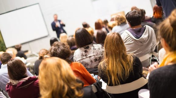 college lecture hall thinkstock