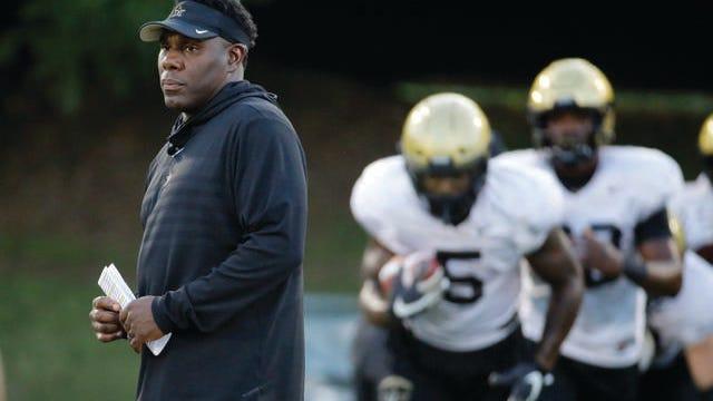 Vanderbilt football coach Derek Mason.