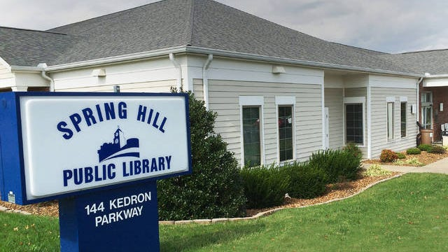 The Spring Hill Public Library provides library services to the City of Spring Hill, and the areas of Williamson and Maury counties that surround Spring Hill.