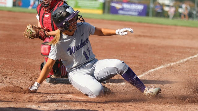 Waukee's Heidi Wheeler sliding into home during the state tournament opener against Ottumwa last season. PHOTO BY ANDREW BROWN/DALLAS COUNTY NEWS