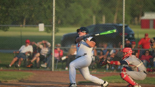 ADM's Kaden Sutton with a swing Monday, June 18 against Ballard. PHOTO BY ANDREW BROWN/DALLAS COUNTY NEWS