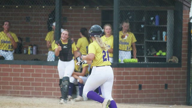 Waukee junior Mikayla Hannam heads to first after being walked in the postseason battle Saturday, July 18 against Des Moines Roosevelt in Waukee. PHOTO BY ANDREW BROWN/DALLAS COUNTY NEWS