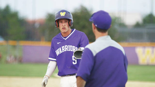 Waukee senior Cooper Crouse with one of five Waukee hits against Urbandale in the Class 4A state quarterfinal round Wednesday, July 29. PHOTO BY ANDREW BROWN/DALLAS COUNTY NEWS
