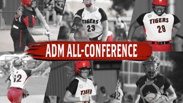 Six ADM softball stars earned All-Conference honors in Abbie Hlas, Brooke Hickey, Ailya Yanga, Brylee Person, Olivia Tollari, and Emily Kay. PHOTOS BY ANDREW BROWN/DALLAS COUNTY NEWS