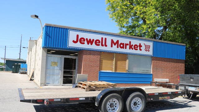 Jewell Market, a community-owned market selling fresh product, meat and other grocery items, will open at 607 King St. in Jewell early next month, following nearly six months of fundraising. Photo by Kylee Mullen/Ames Tribune