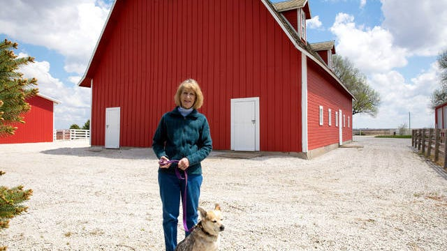 The Paulson Barn owners, Gregory and Margot Hodges-Tinner (pictured), were recently presented with the Adrian D. Anderson Award for a small historic preservation project from the State Historical Society of Iowa. Photo courtesy of Kelly Bouchard, owner of The Little Moments Photography.