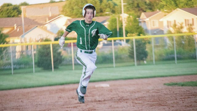 Woodward-Granger's Jack Grell runs the bases during a home game on June 24. PHOTO BY SEAN CORDY/THE PERRY CHIEF