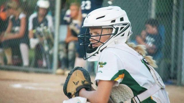 Woodward-Granger's Emma Anderson during a home game on July 2. PHOTO BY SEAN CORDY/THE PERRY CHIEF