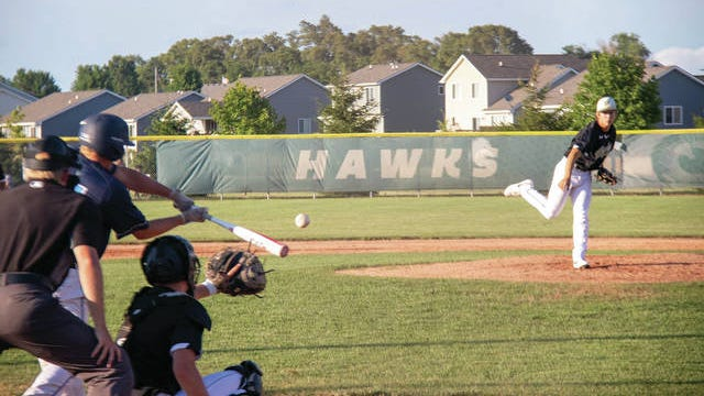 Jay Dorenkamp on the mound against Panorama on Thursday, July 9. PHOTO BY SEAN CORDY/THE PERRY CHIEF