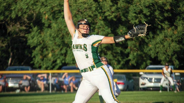 Rian Jamison pitches during a game earlier this season. PHOTO BY SEAN CORDY/THE PERRY CHIEF