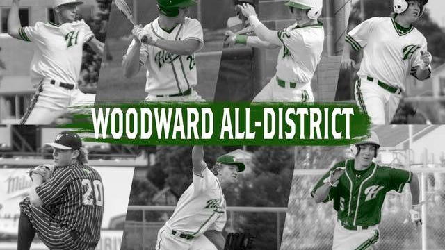 Seven Hawks earned all-district honors, including Bryce Achenbach, Alex Bice, Reese Jamison, Colby Tague, Caden Easter, Worth Henry and Brandon Worley. PHOTOS BY SEAN CORDY/THE PERRY CHIEF