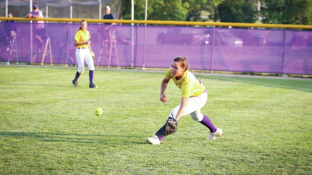 Waukee's Lilly Chiafos fielding a ball during the home battle with Ankeny Centennial Monday, July 6. PHOTO COURTESY OF BRYCE MUSGROVE