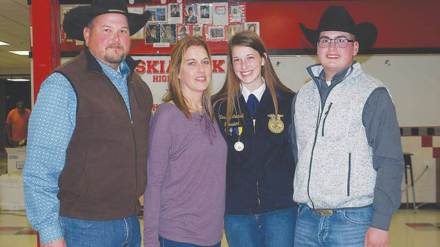 New Caney Valley school superintendent Dr. Steve Cantrell and his family, wife Michelle, daughter Karstyn and son Parker. Courtesy
