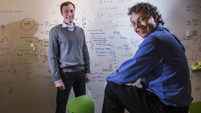"""University of Washington professors Jevin West, left, and Carl Bergstrom hope to teach a class on """"BS."""" Dean Rutz/Seattle Times/TNS"""