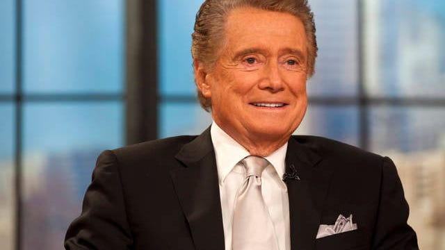 """Regis Philbin appears on his farewell episode of """"Live! with Regis and Kelly"""" on Nov. 18, 2011, in New York. Charles Sykes/AP"""