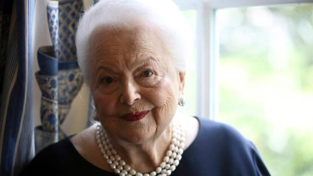U.S. actress Olivia de Havilland poses during an interview June 18, 2016, in Paris. Thibault Camus/AP, file