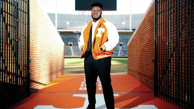 Trey Smith was the Knoxville News Sentinel's Sportsperson of the Year in 2019. Smith is junior offensive lineman for the Tennessee Vols. The News Sentinel is a sister paper of The Daily Herald.